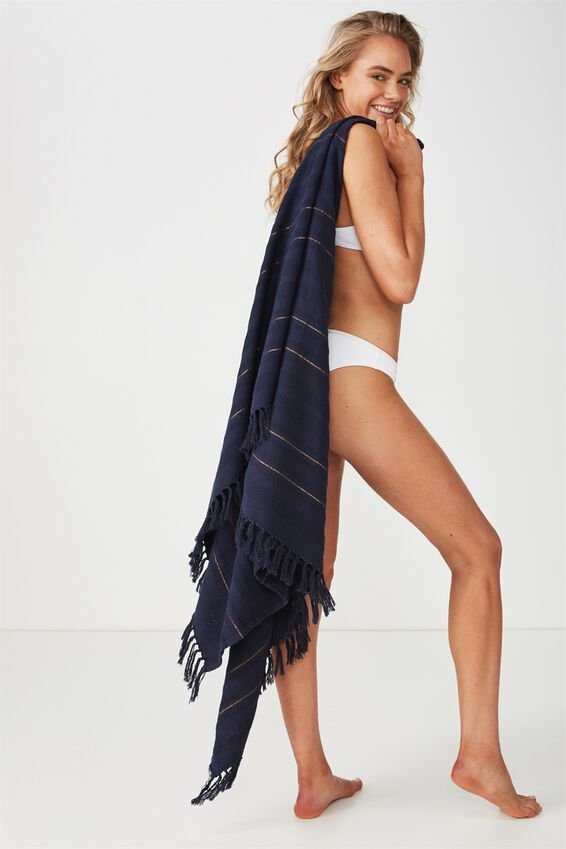 Shades Of Summer Lightweight Towel, NAVY