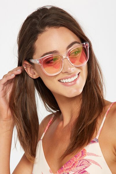Veronica Full Frame Sunglasses, PINK TINT