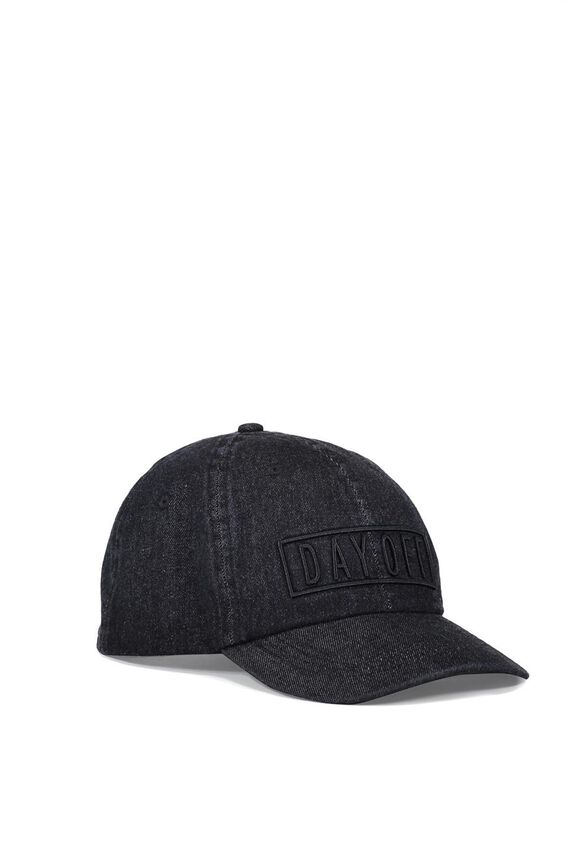 Nancy Cap, BLACK DENIM W EMB