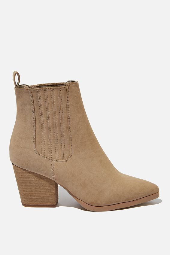 Jolene Gusset Boot, TAUPE