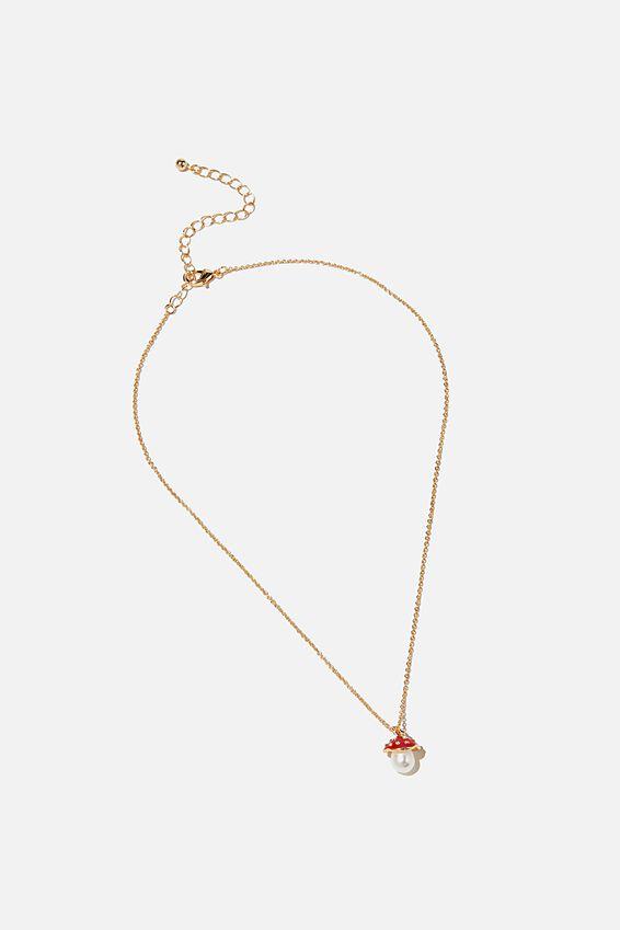 Brighter Days Pendant Necklace, PINK MUSHROOM