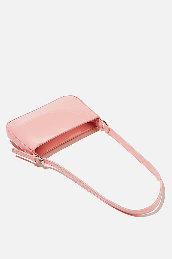 Lexi Underarm Bag, BABY PINK PATENT