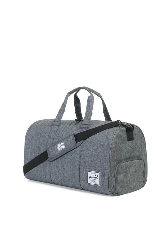 Herschel Novel Duffle Bag, RAVEN CROSSHATCH