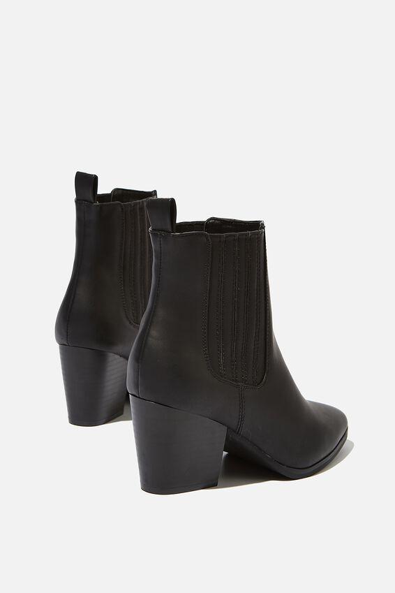 Jolene Gusset Boot, BLACK SMOOTH