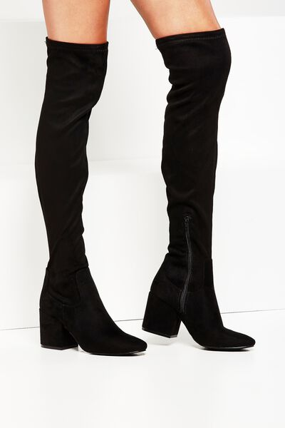Floyd Over The Knee Boot, BLACK