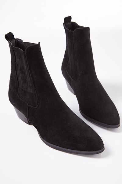 Fifth Western Boot, BLACK