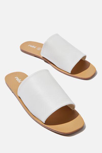 Cleo Minimal Slide, WHITE