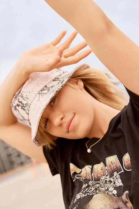 Bella Bucket Hat, BLUSH SNAKE PRINT