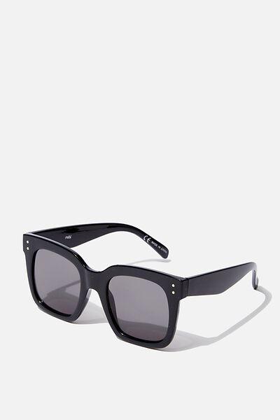 D Frame Sunglass, BLACK