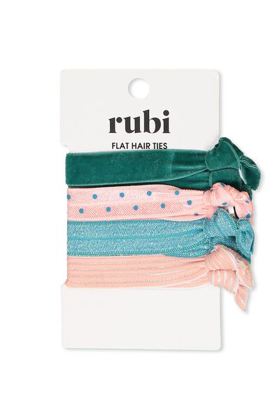 Hair Ties, JUNGLE GREEN/PEACH BUD