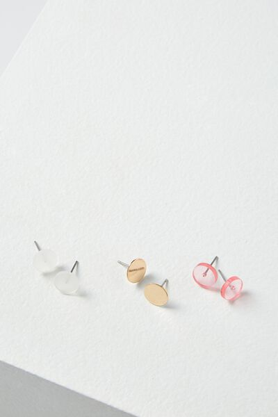 Surrey Stud Pack, PINK/CLEAR/GOLD