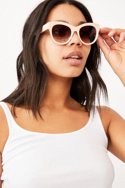 Wendi Cateye Sunglasses, WHITE/ PINK