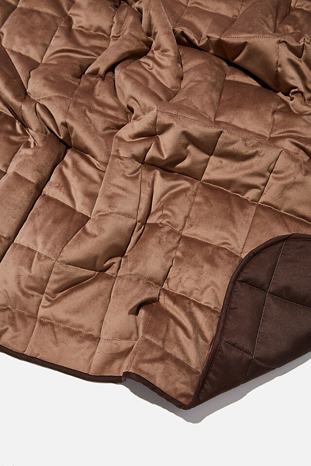 Quilted Throw, COCOA BEAN