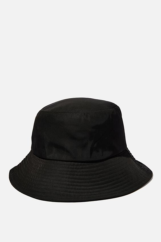 Bianca Bucket Hat, BLACK NYLON