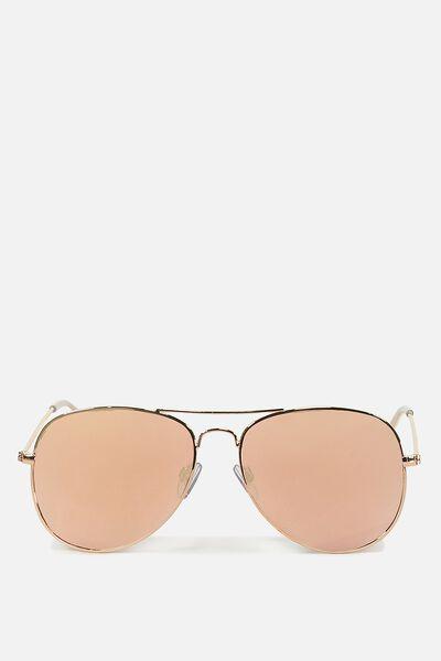 Arabella Metal Sunglasses, ROSE GOLD/ROSE GOLD