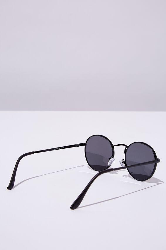 Emmi Metal Frame Sunglasses, BLACK