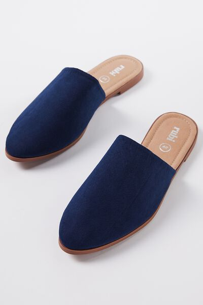 Charlotte Soft Mule, NAVY MICRO