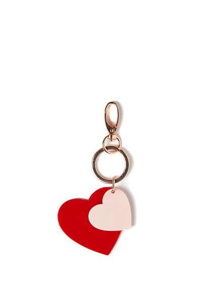 Love Birds Bag Charm, BARELY PINK/RED