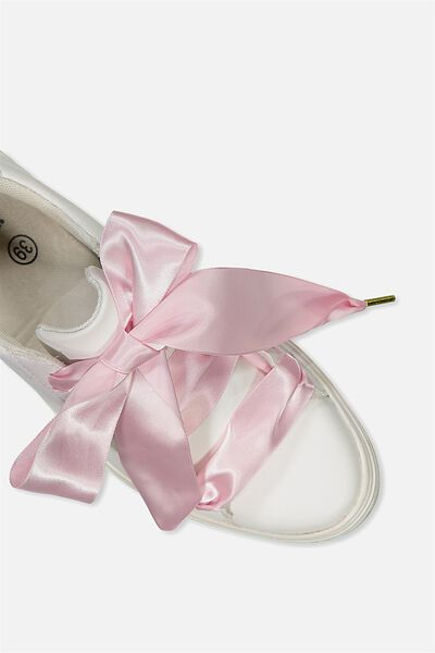 Laced Up Shoelaces, PARFAIT PINK SATIN