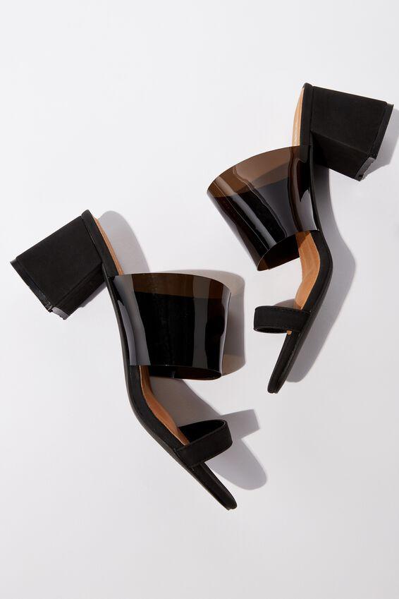 Franklin Double Strap Heel, SMOKE/BLACK