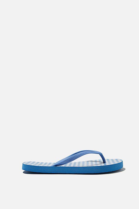 The Rubi Flip Flop, BLUE WHITE GINGHAM