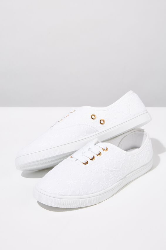 Juno Plimsoll, WHITE BRODERIE