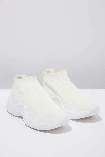 Tess Slip On Chunky Sneaker, WHITE