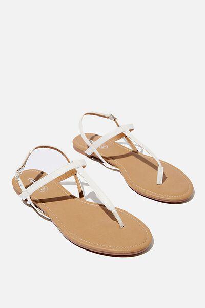 Everyday Toe Post Sandal, WHITE PU