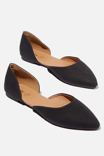 Essential Bonnie Cut Out Point, BLACK NUBUCK