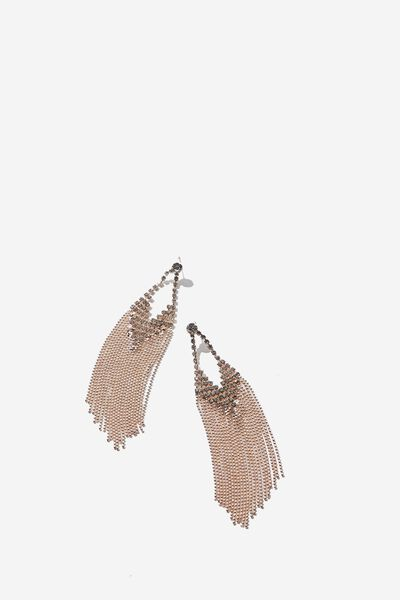 Festival Bling & Glow Waterall Earring, ROSE GOLD