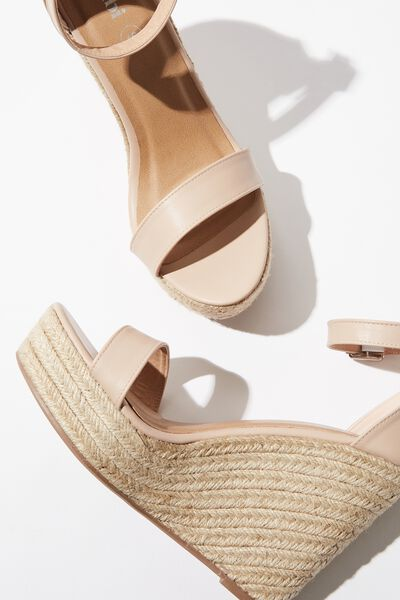 Amethyst Espadrille Wedge, PALE TAUPE
