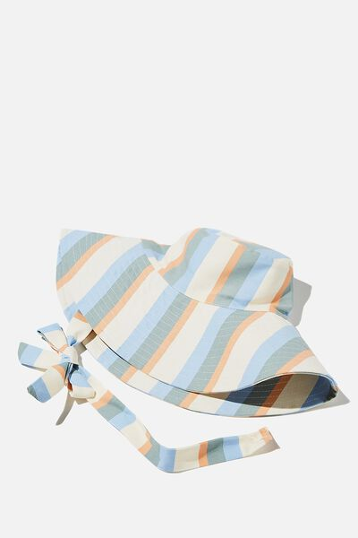 Zahra Wide Brim Sun Hat, MULTI RETRO STRIPE