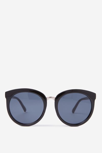 Mia Full Frame Sunglasses, BLACK