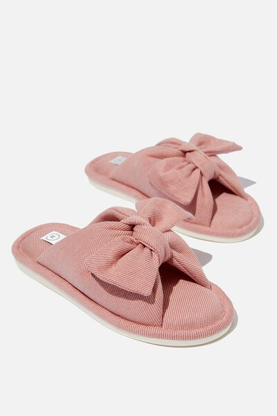 Beccy Bow Slipper, ROSE