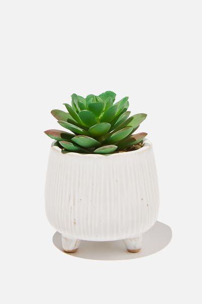Mini Planter, WASHED WHITE