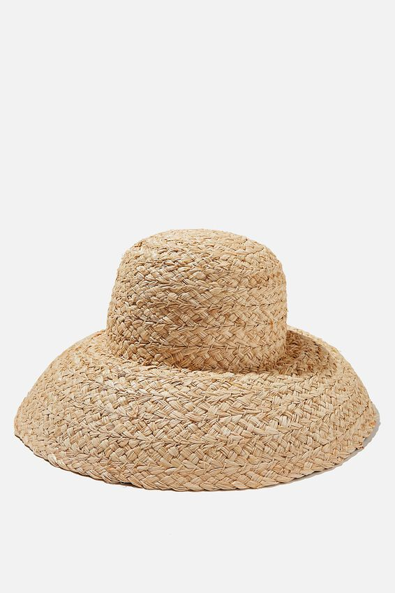 Skylar Straw Hat, NATURAL