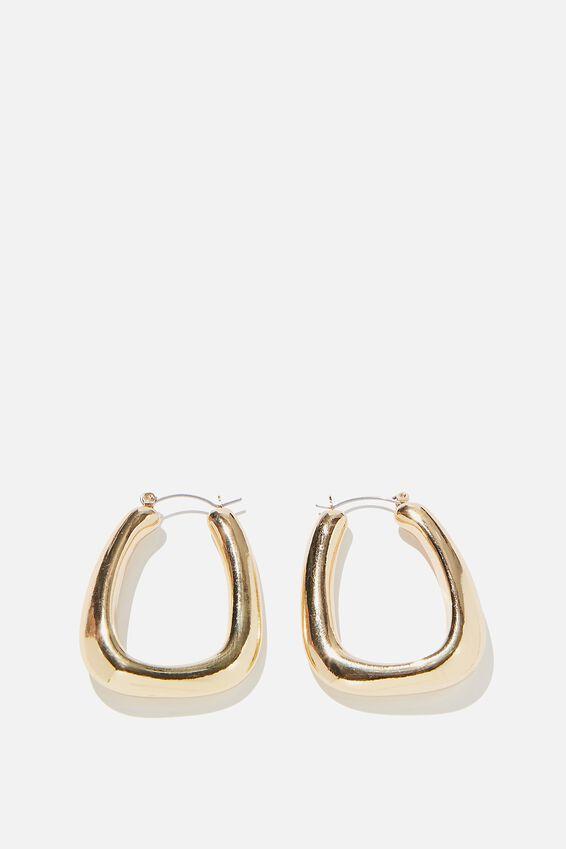 Rachel Oblong Large Hoop Bar, GOLD
