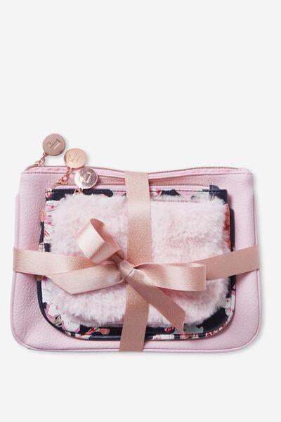 3 Piece Gift Set, PARFAIT PINK/FLORAL