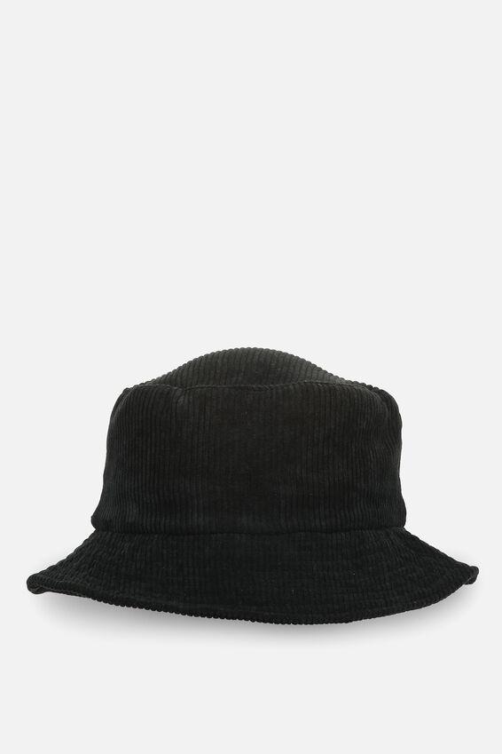 Bella Bucket Hat, BLACK CORD
