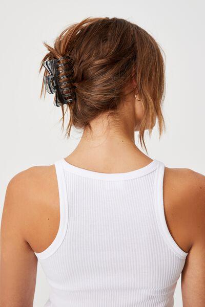 Kiley Hair Claw, CRYSTAL BLACK