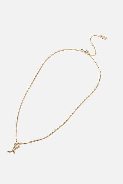 Premium Pendant Necklace, GOLD PLATED K