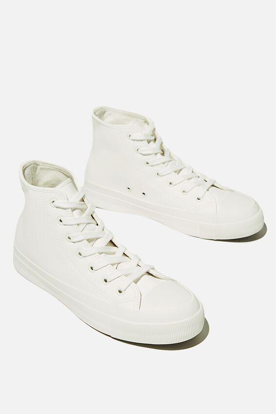 Britt High Top, WHITE WHITE
