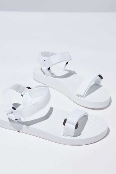 Stormy Sporty Sandal, WHITE