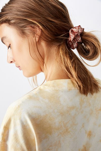 So Me Scrunchie, RUST BANDANA PAISLEY