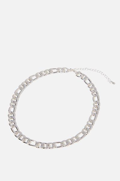 Bike Chain Treasures Necklace, SILVER BIKE CHAIN