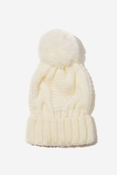 Hooked On You Cable Beanie, WINTER WHITE