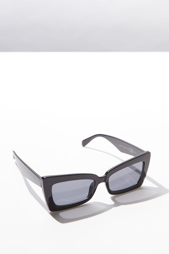 Monte Square Frame Sunglasses, BLACK/BLACK