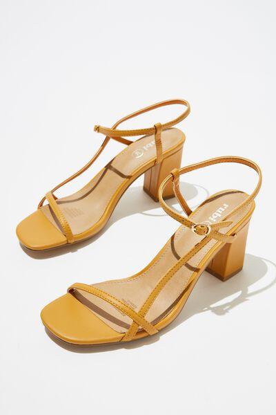 Hannah Thin Strap Heel, MUSTARD