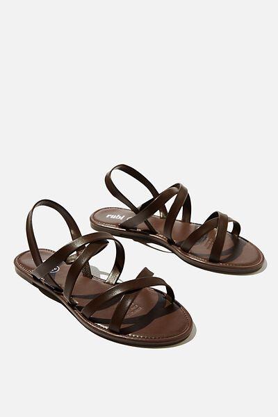 Lucy Strappy Slingback Sandal, CHOC PU