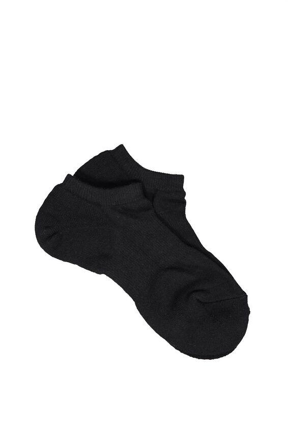 Active Ankle Sock, BLACK